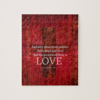 1 Corinthians 13:13 BIBLE VERSE ABOUT LOVE Jigsaw Puzzle