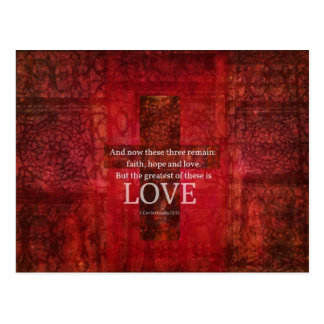 1 Corinthians 13:13 BIBLE VERSE ABOUT LOVE Postcard