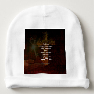 1 Corinthians 13:13 Bible Verses Quote About LOVE Baby Beanie