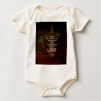 1 Corinthians 13:13 Bible Verses Quote About LOVE Baby Bodysuit