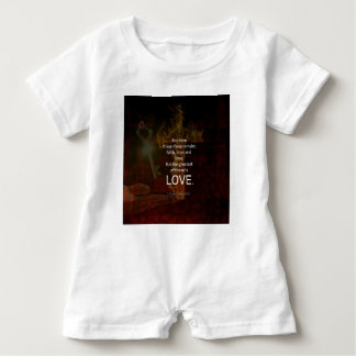 1 Corinthians 13:13 Bible Verses Quote About LOVE Baby Romper