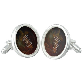 1 Corinthians 13:13 Bible Verses Quote About LOVE Cufflinks