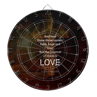 1 Corinthians 13:13 Bible Verses Quote About LOVE Dartboard