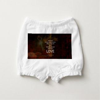 1 Corinthians 13:13 Bible Verses Quote About LOVE Diaper Cover