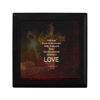 1 Corinthians 13:13 Bible Verses Quote About LOVE Gift Box