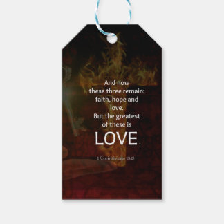 1 Corinthians 13:13 Bible Verses Quote About LOVE Gift Tags