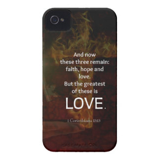 1 Corinthians 13:13 Bible Verses Quote About LOVE iPhone 4 Cover