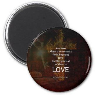 1 Corinthians 13:13 Bible Verses Quote About LOVE Magnet