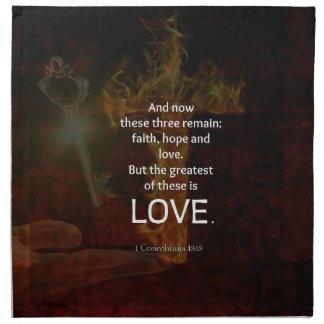 1 Corinthians 13:13 Bible Verses Quote About LOVE Napkin