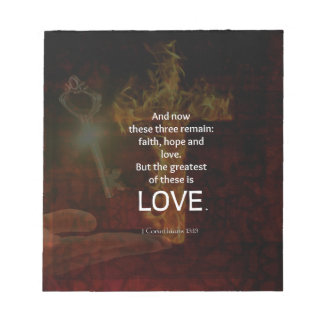 1 Corinthians 13:13 Bible Verses Quote About LOVE Notepad