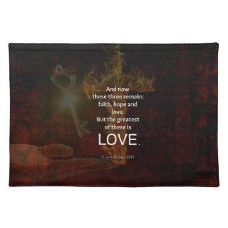 1 Corinthians 13:13 Bible Verses Quote About LOVE Placemat