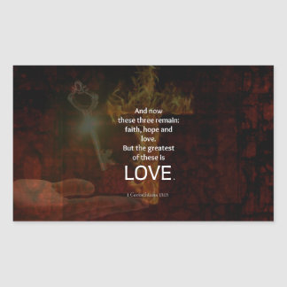 1 Corinthians 13:13 Bible Verses Quote About LOVE Sticker