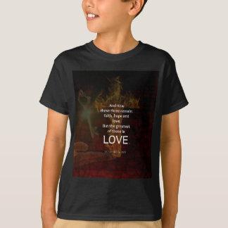 1 Corinthians 13:13 Bible Verses Quote About LOVE T-Shirt