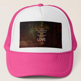1 Corinthians 13:13 Bible Verses Quote About LOVE Trucker Hat
