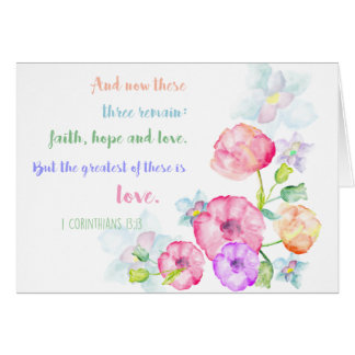 1 corinthians 13:13 Love Bible Verse Card