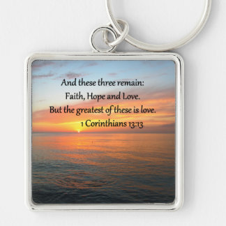 1 CORINTHIANS 13:13 SUNRISE PHOTO KEYCHAIN