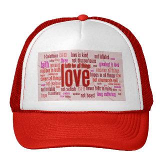 1 Corinthians 13 1-13 Heart Cloth Mesh Hats