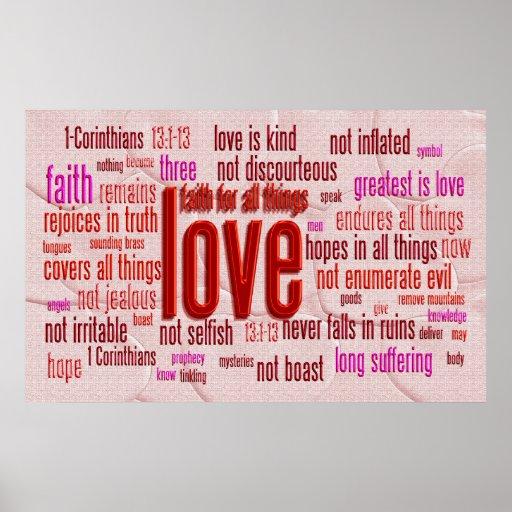 1 Corinthians 13:1-13 Heart Cloth Print