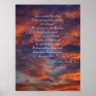 1 Corinthians 13; 4-8a   Inspirational Poster