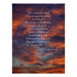 1 Corinthians 13; 4-8a | Inspirational Poster
