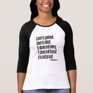 1 Corinthians 13:4 Ladies 3/4 Sleeve Raglan Fitted T-Shirt