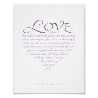 1 Corinthians 13 Heart Shaped Print