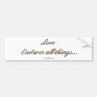 1 Corinthians 13 - Love Endures All Things Bumper Sticker