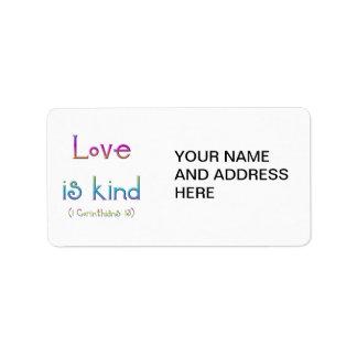 1 Corinthians 13 - Love Is Kind Label