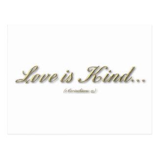 1 Corinthians 13 - Love Is Kind Postcard