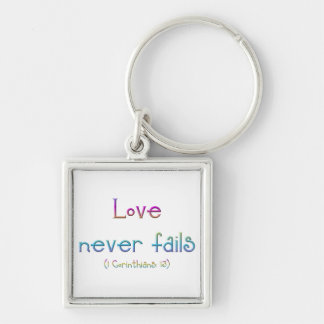 1 Corinthians 13 - Love Never Fails Keychain