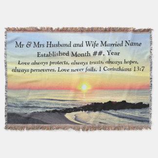 1 Corinthians 13 PERSONALIZED WEDDING BLANKET Throw Blanket