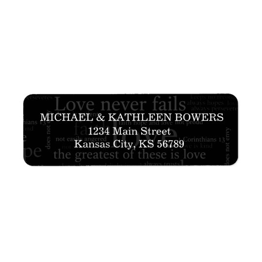 1 Corinthians 13 Return Address Label