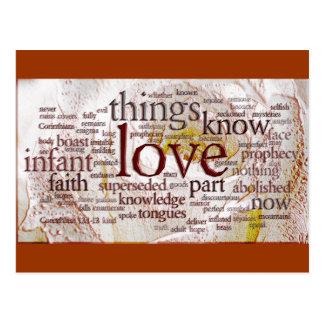 1 Corinthians 13 Rose v1 Postcard
