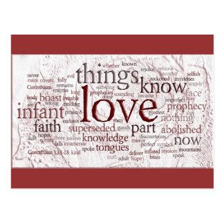 1 Corinthians 13 Rose (v2) Postcard