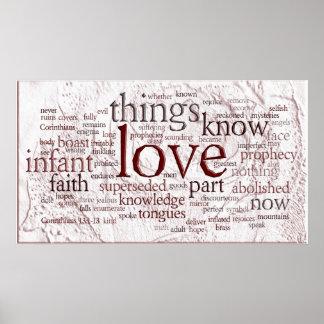 1 Corinthians 13 Rose (v2) Poster