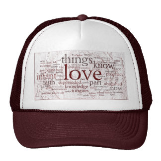 1 Corinthians 13 Rose v2 Trucker Hat