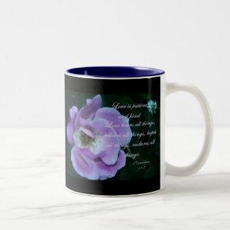 1 Corinthians 13 Two-Tone Coffee Mug