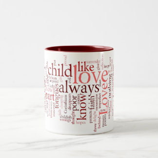 1 Corinthians 13 Word Cloud Mug