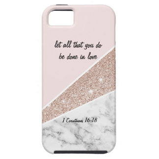 1 Corinthians 16:18, pink marble - iPhone case