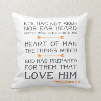 1 Corinthians 2:9 | Bible Verse Throw Pillow