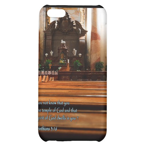 1 Corinthians 3:16 Church Pews iPhone 5C Cover