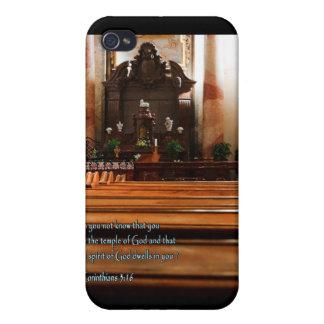 1 Corinthians 3 16 Church Pews Case For iPhone 4