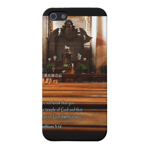1 Corinthians 3:16 Church Pews Case For iPhone 5