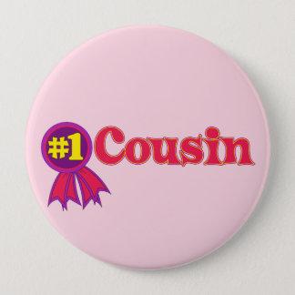 #1 Cousin 4 Inch Round Button