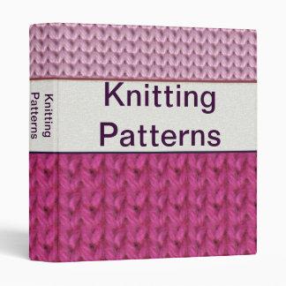 """1"""" Customizable Knitting Pattern Binder"""