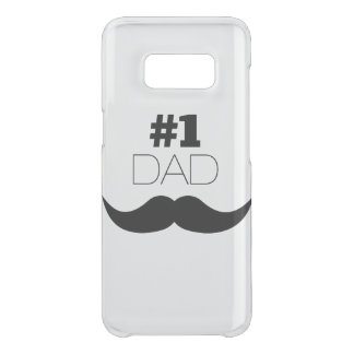 #1 Dad Black Mustache - Number One Uncommon Samsung Galaxy S8 Case