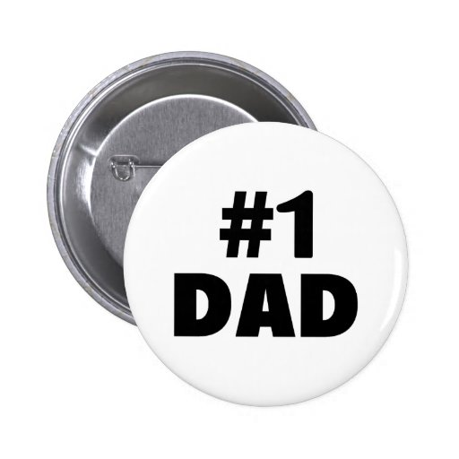 #1 Dad (Blk) Pinback Buttons