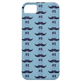 #1 Dad Blue Mustache - Number One iPhone 5 Case