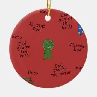 # 1 Dad Christmas ornament