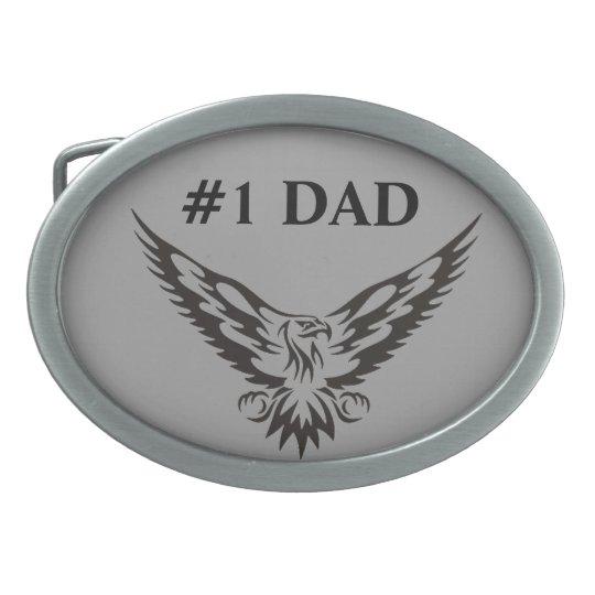 #1 Dad Eagle Belt Buckle. Belt Buckles